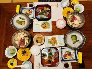 箱根強羅深山の晩御飯